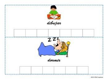 Letter Tile activity for Letter Dd (Spanish)