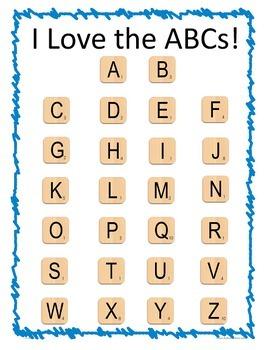 Letter Tiles ABC Alphabet Template Freebie