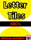 LETTER TILES ABC's with Pictures & Sorts