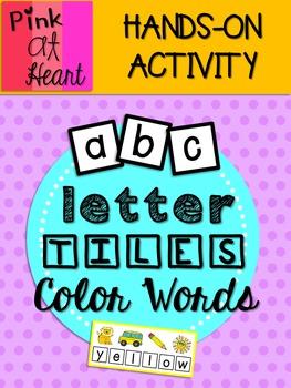 Letter Tiles: Color Words
