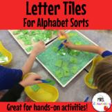 Letter Tiles For Alphabet Sorts