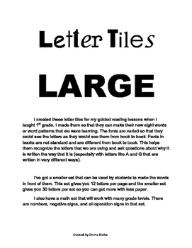Letter Tiles Large
