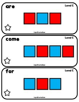 LETTER TILES: Sight Word Task Cards