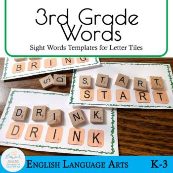 Letter Tiles Sight Words 3rd Grade Templates