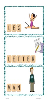 Letter Tiles Sight Words Nouns Templates