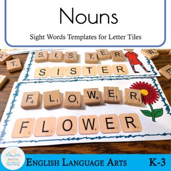 Letter Tiles Sight Words Nouns Templates