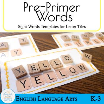 Letter Tiles Sight Words Pre Primer Templates