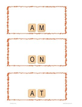 Letter Tiles Sight Words Primer Templates