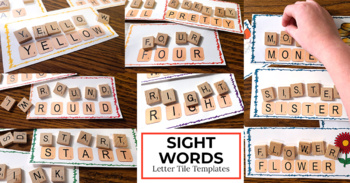 Letter Tiles Sight Words Templates BUNDLE