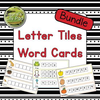 Letter Tiles Word Cards Bundle