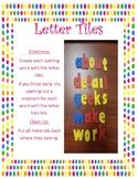Letter Tiles Word Work