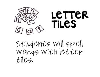 Letter Tiles, Word Work, Spring/March words