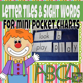 Letter Tiles and Sight Words for Mini Pocket Charts