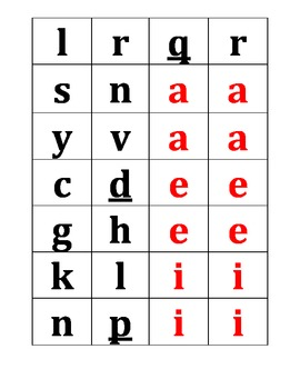 Letter Tiles for Word Work English