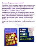 Letter Tiles for Word Work Spanish