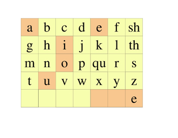 Letter Tiles with digraphs, welded sounds, and affixes