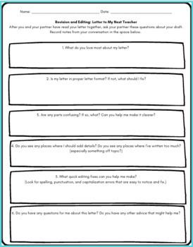 Letter To My Next Teacher