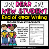 Letter To Next Year's Students Editable Future Student End of School Writing
