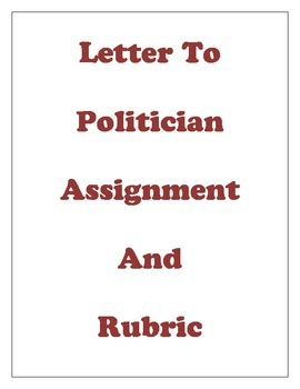 Letter To Politicians Activity