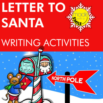 Letter To Santa Coloring and Writing Activities