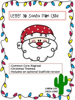 Letter To Santa From Child