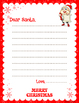 Christmas Letter To Santa:Template