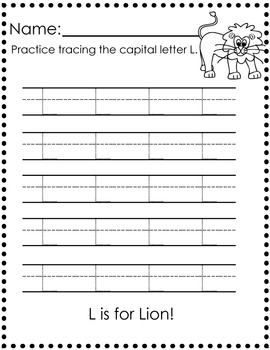 Letter Trace: Capital A-Z : 26 Pages