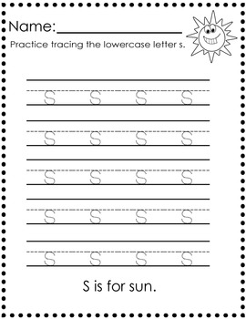 Letter Trace: Capital and Lowercase A-Z : 52 Pages