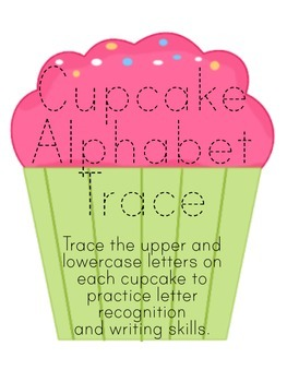 Letter Trace Cupcake Match