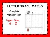 Letter Trace Mazes - Upper Case Alphabet Set A - Z