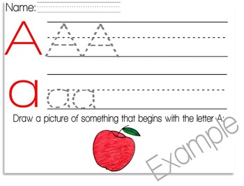 Letter Trace Page - Letter A - Practice Writing Page - Alp