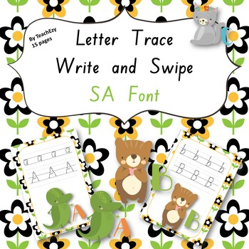 Letter Trace Write and Swipe SA Font