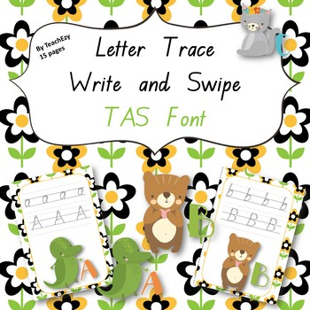 Letter Trace Write and Swipe TAS Font