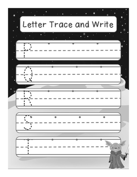 Star Wars Handwriting Practice - Letter Trace and Write