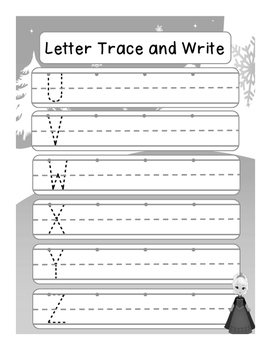 Frozen Handwriting Practice - Letter Trace and Write