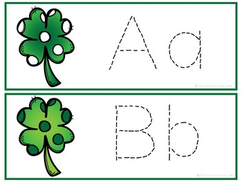 Letter Tracing Cards-St. Patrick's Day