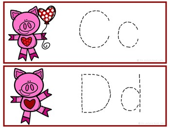 Letter Tracing Cards-Valentine's Day