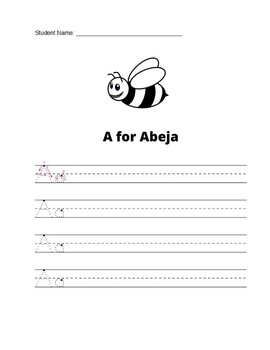 Letter Tracing Book for Kids Ages 3-5 Spanish - Spanish Letter Trace