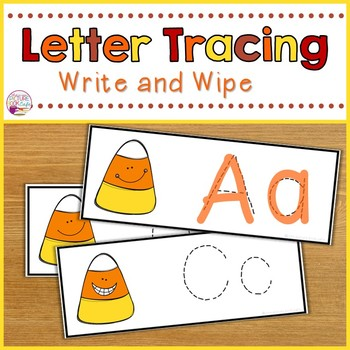 Letter Tracing-Candy Corn