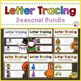 Letter Tracing Cards-Seasonal Year Long Bundle