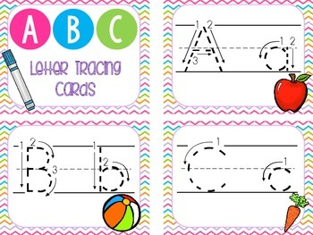 Letter Tracing Cards and Play Dough Mats