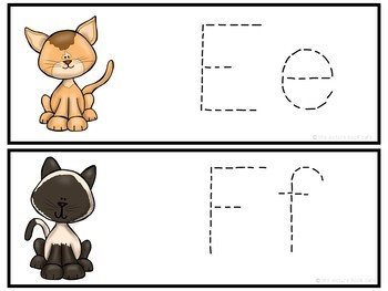 Letter Tracing Cards-Cats