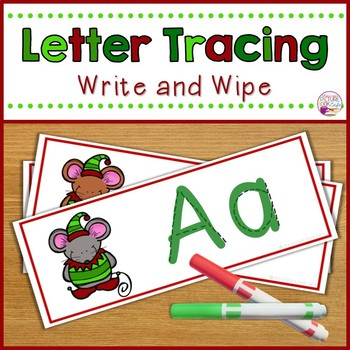 Letter Tracing Cards-Christmas