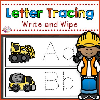 Letter Tracing Cards-Construction