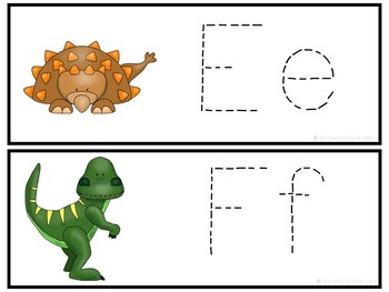Letter Tracing-Dinosaurs