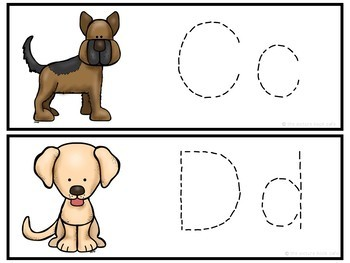 Letter Tracing-Dogs
