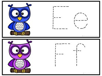 Letter Tracing-Owls