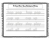 Dr. Seuss - Letter Tracing Hop on Pop Inspired Writing