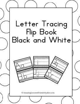 Letter Tracing Flip Book BW