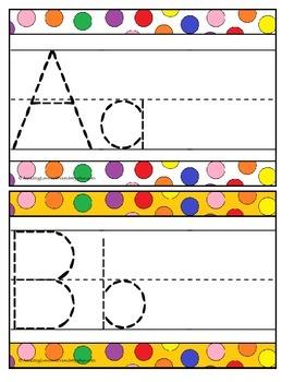 Letter Tracing Flip Book Dot Color Background